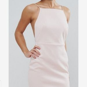 H&M Ruffle Flounce Dress in Blush Pink 0